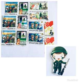 Army Stamps & Magnet