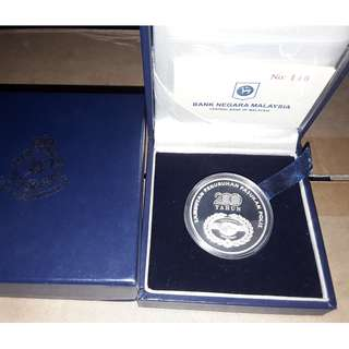 Malaysia 200 Year Police Force Silver Proof Coin Polis with box and certificate  rare
