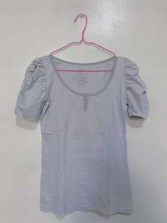 PENSHOPPE top with Gray Stripes