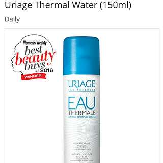 Uriage Thermal water: cooling hydrating spray 150ml *exp 8/18