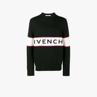 Givenchy Logo-Stripe Wool Sweater
