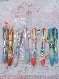 sanrio 6色筆