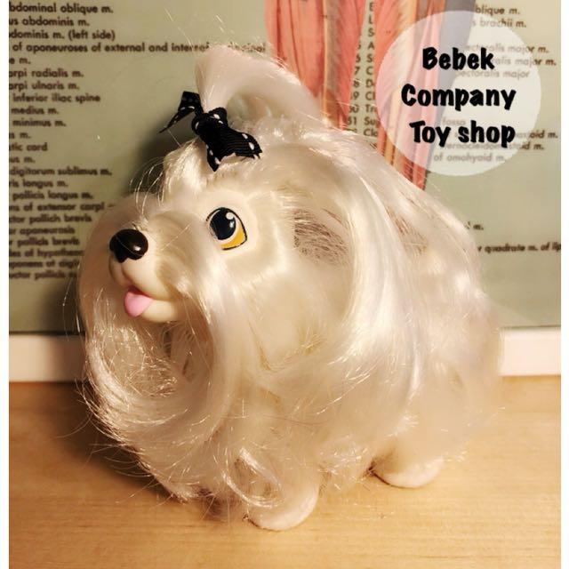 1989年 Hasbro sweetie puppy 古董玩具 白色 長毛狗狗 絕版玩具 玩偶 稀有