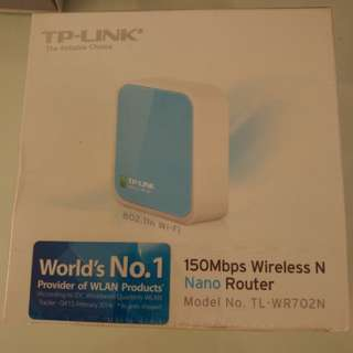 100% new 未開 TP Link 150Mbps N Wireless Nano router