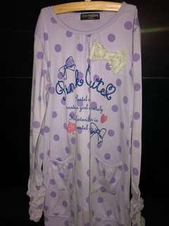 Purple Polkadot Shirt