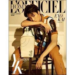 [PREORDER] EXO KAI L'OFFICIEL HOMMES YK EDITION 2018