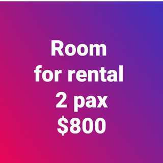 Room for rental $400 each