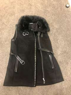 Seed faux fur trim jacket