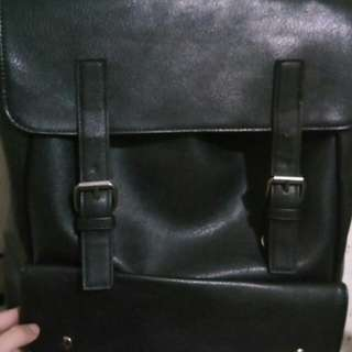 Salvatorre Mann: Faux Leather Backpack