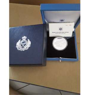 50th Anniversary of the Establishment of the Royal Malaysian Air Force (RMAF) Silver Proof coin