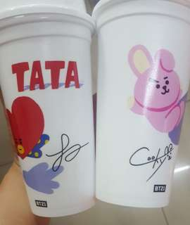 [RS] BT21 X DD REUSABLE CUPS