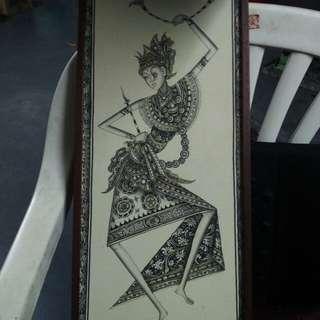 印尼艺术画 2for $70