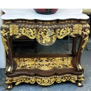 A Pair Of Peranakan Console Table.