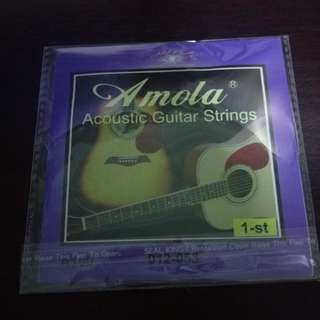 Amola acoustic guitar 1st E string only!!! Free postage