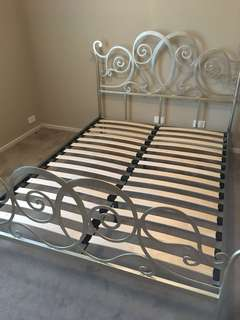 Gold heart bed frame