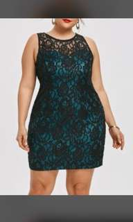 Plus size short lace dress US Size 18