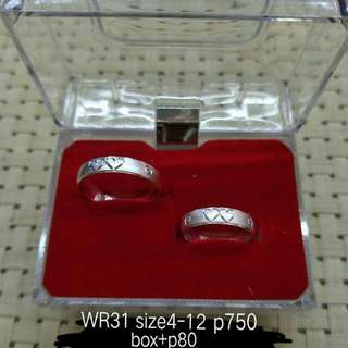 Couple ring( 92.5 italy silver)