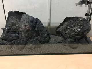 Black lava rock aquarium use