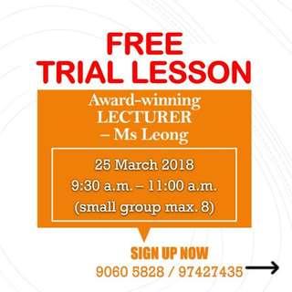 FREE Trial Lesson - English