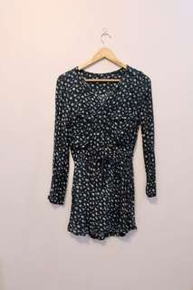 Mango - Green - Long sleeved Dress -