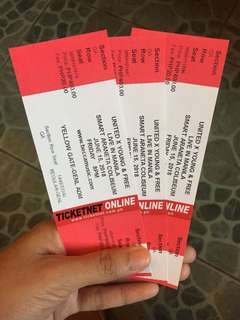 Hillsong United x Young & Free 3 Gen Ad Tickets