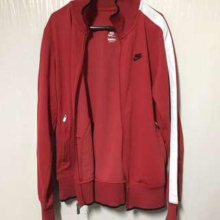 Nike 紅色運動外套