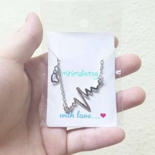 🐨Minimalistic Gold/ Silver Heartbeat Wave Necklaces