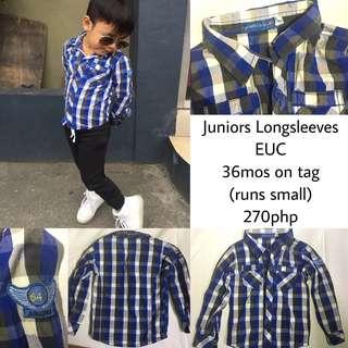 Juniors Checkered Longsleeves