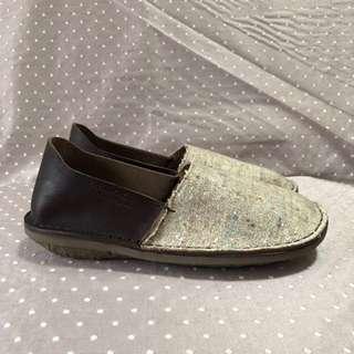 (男鞋)真皮草編包鞋 全新