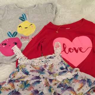 Baby girl tops for take all @ 200