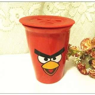全新 7-11 憤怒鳥 雙層陶瓷隨行杯 陶瓷杯水杯 茶杯 冷水杯 紅鳥夾 杯子