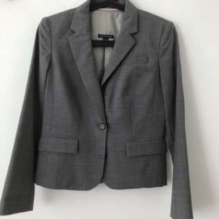 J crew size 2 grey wool suits set