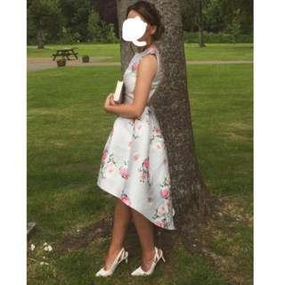 CHI CHI LONDON SHELBY DRESS (Asymmetric Floral)