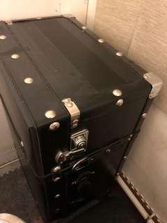 Black Leather Vintage SuitCase 復古行李箱