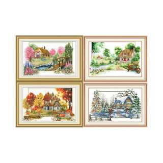 DIY Cross Stitch - Four Seasons ($25 per × 4 sets = 100)