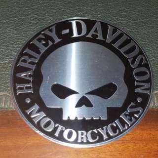 Emblem Timbul Skull Harley Aluminium