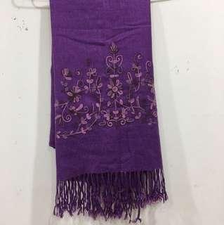 薄寬大圍巾、長160、寬66