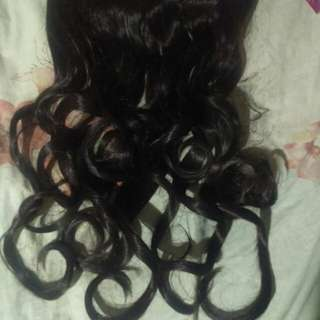 Hair extension clip on