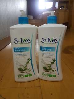 St ives hand and body lotion