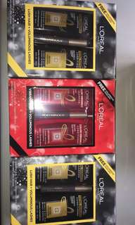 LOREAL PARIS SET (shampoo, conditioner, mascara)