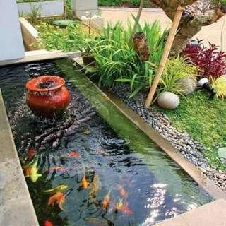 Pembuatan kolam ikan