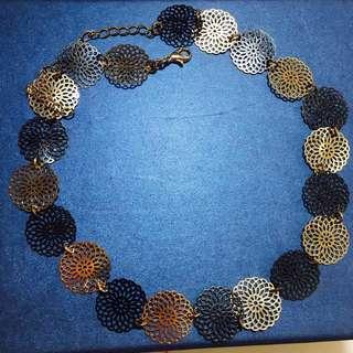 new法國French jewels/LES CLEIAS花雕刻項鏈necklace頸鏈