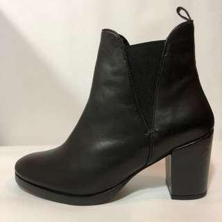 ASOS Chelsea boots/踝靴/黑色/真皮/高跟/中跟