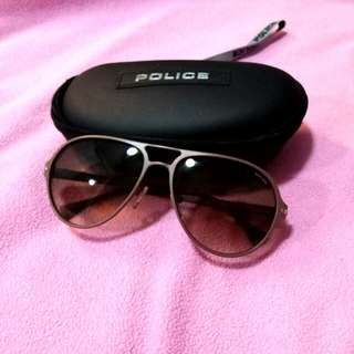 Ladies Police Brown Sunglasses