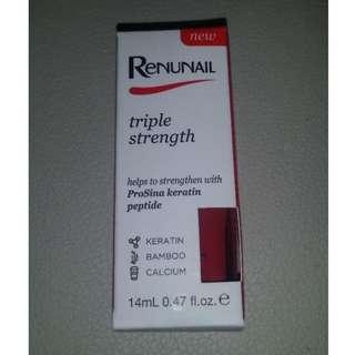 BNIB Dr Lewinn's Renunail Pomegranate red triple strength nail polish