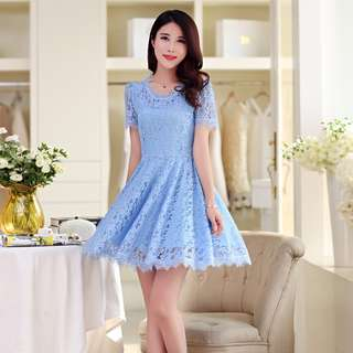 🎠 FLASH DEAL - Plus Size 4X Floral Lace Candy Sweetheart A-line Skater Classic Dress