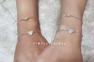 心心珍珠手鏈