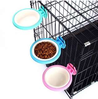Brand new hanging cage feeding water bowl