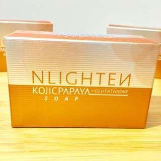 Only 2pcs left! NLIGHTEN Kojic Papaya w/ Glutathione Soap
