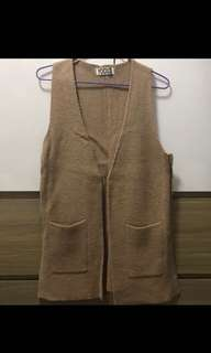 全新韓國麻花外套 knit Vest Coat